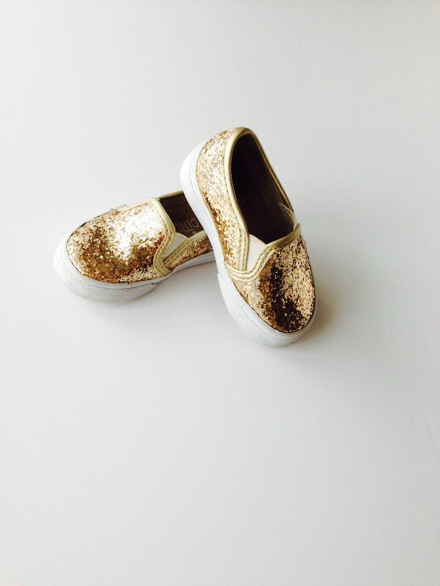 target gold glitter shoes
